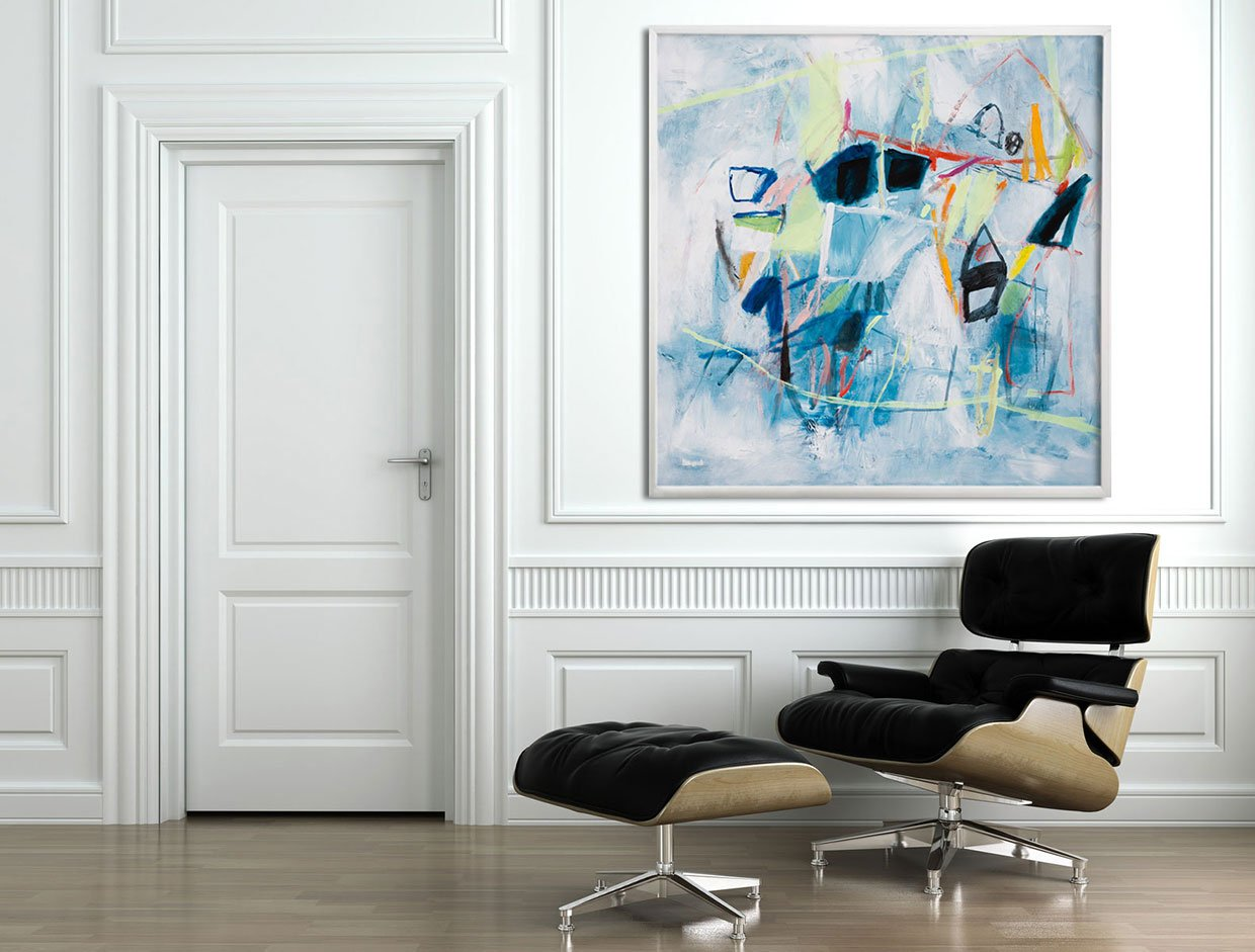 Large Abstract Art, ready to hang