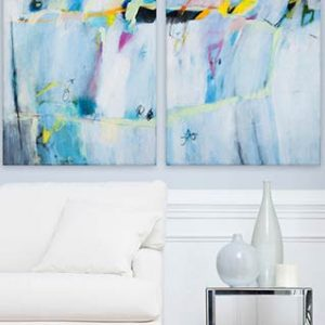 Large Abstract Paintings Duealberi