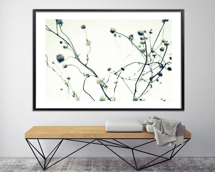Minimalist Modern Print Botanical Print Large Wall Art Canvas Giclee