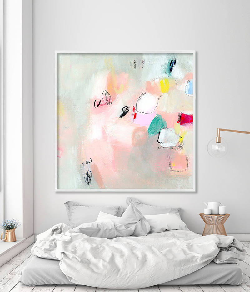 ABSTRACT Painting, gicl?Ã?©e print, abstract art, up to 40×40 ...