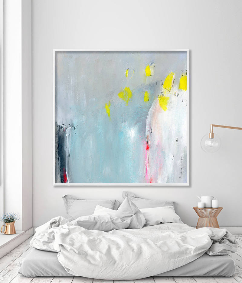 Abstract Painting Print Blue Abstract Decor Extra Large Wall Art Bedroom Abstract Soft Nursery
