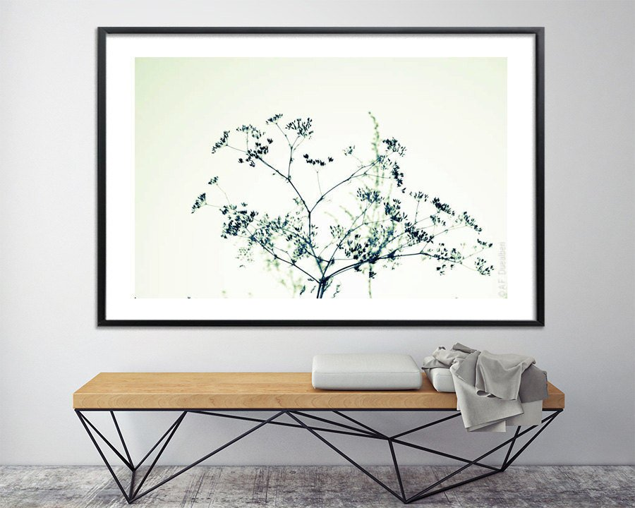 Modern botanical art Poster bed Large canvas art Large Wall art ...