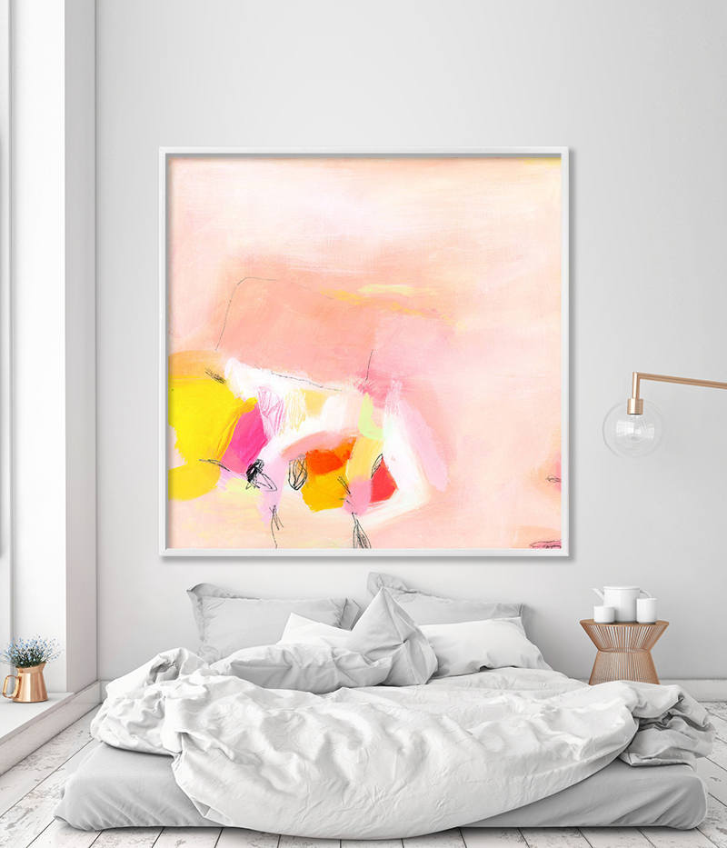 Large Wall Art Print On Canvas Nursery Print Modern Art Giclee