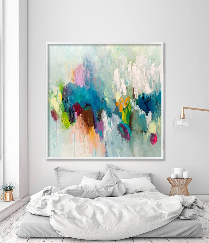 Large painting PRINT, giclee print of acrylic painting abstract art ...