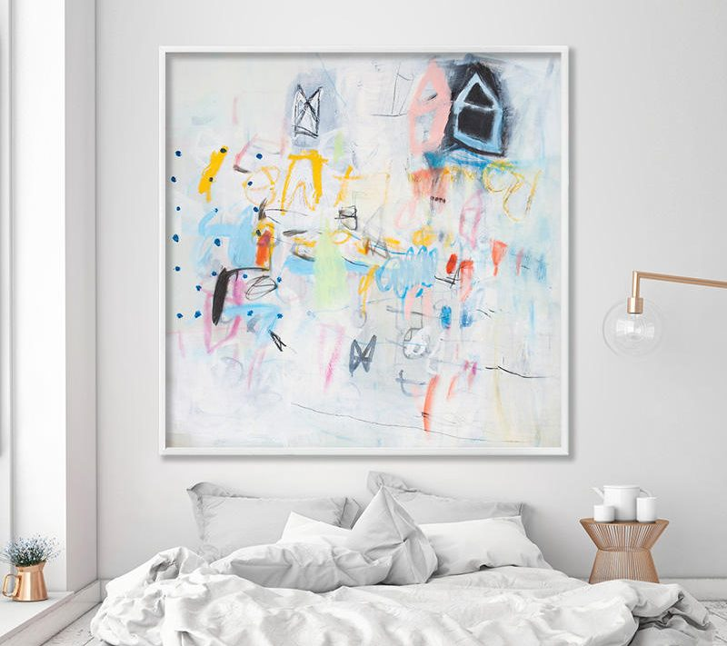 Colorful Abstract art print. Boho wall hanging. Teen room decor. New home gift