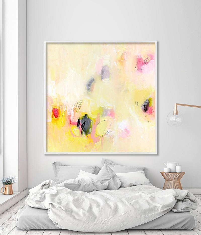 Giclee print Large wall art Canvas art of abstract painting in ...