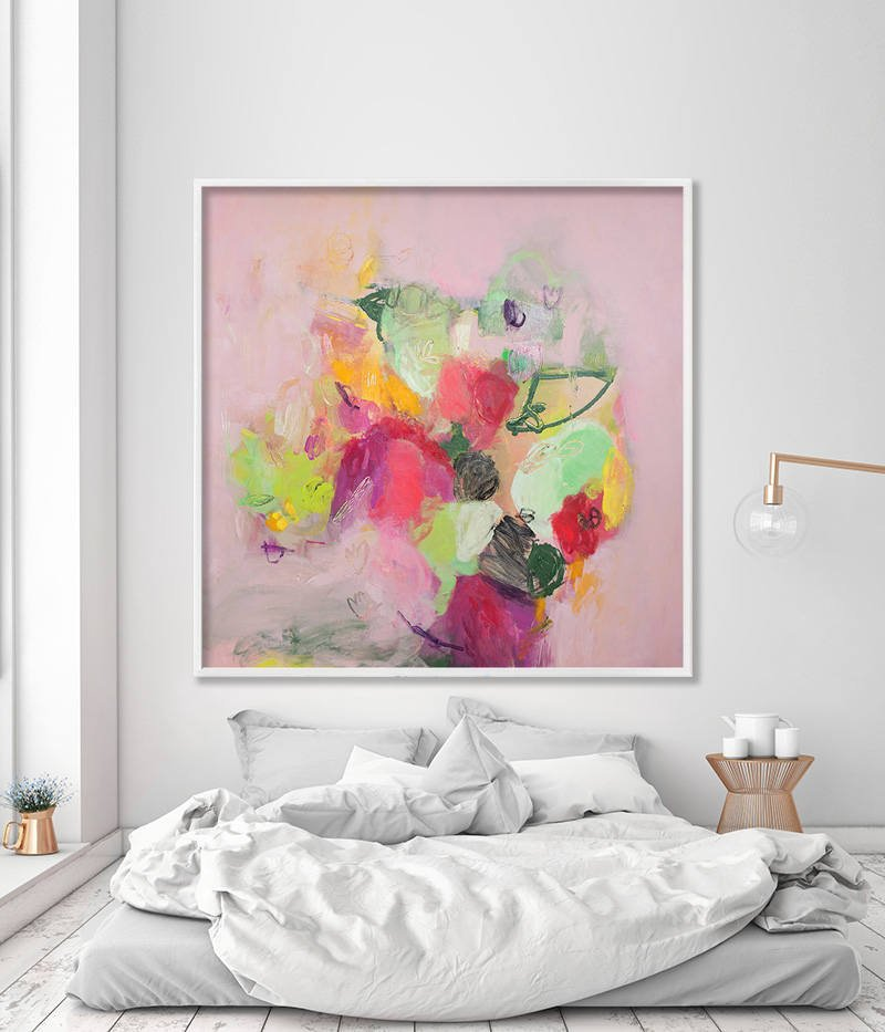 Abstract Floral Painting Large Wall Art Print from Canvas Painting ...
