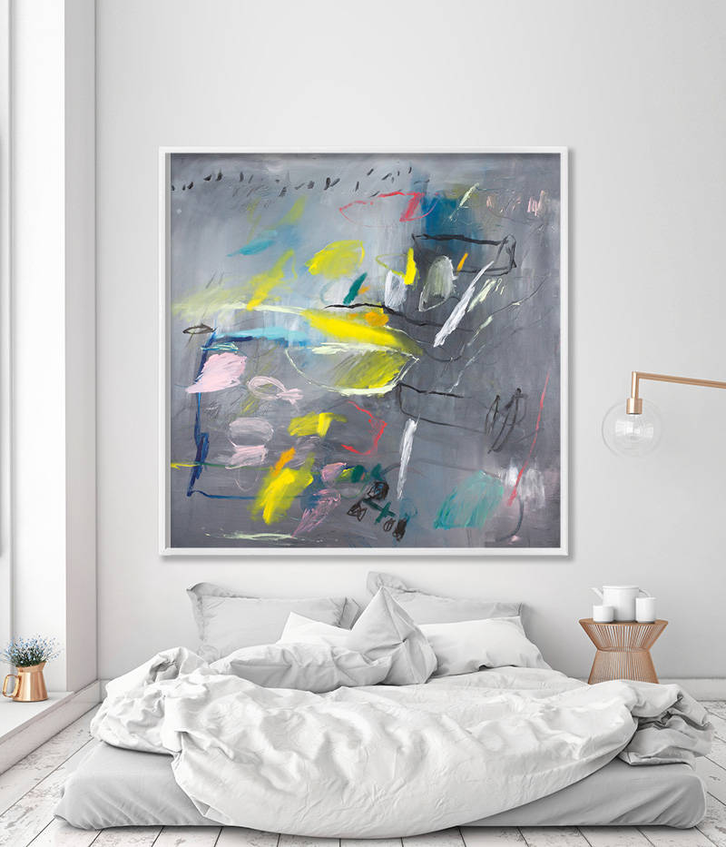 Abstract Painting Print Of Extra Large Wall Art Grey Wall Art For Entryway Art Decor Large Grey Abstract Art Giclee Print Duealberi