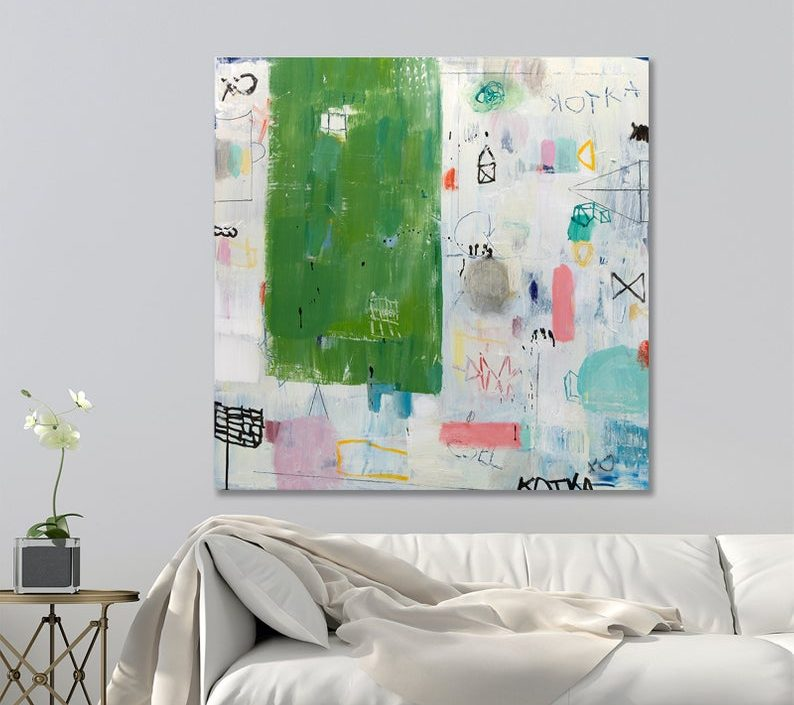 Colorful Abstract painting. Modern painting. Original artwork, buy large original painting